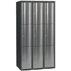 Ekskluzywne szafy osobiste 3x3 schowki Kolor drzwi: Jasny szary metalizowany z kategorii Szafy i witryny