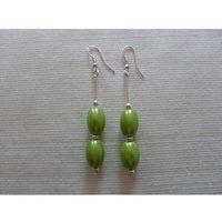 K-00154 Kolczyki jak zielone oliwki