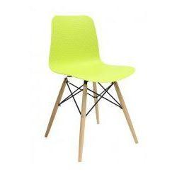 King home Krzesło plastikowe krado dsw premium zielone - polipropylen, podstawa bukowa (5900000025421)