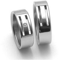 Obrączki ślubne z stali nierdzewnej  rz06104+rz86104 () marki Zero collection