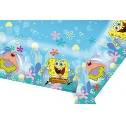 Obrus urodzinowy Spongebob kanciastoporty - 120 x 180 cm - 1 szt. (0013051505530)