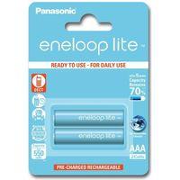 2 x akumulatorki Panasonic Eneloop Lite R03 AAA 550mAh BK-4LCCE/2BE (blister) (5410853052753)