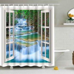 Rosegal Bathroom waterproof shower curtain