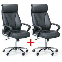 Fotel biurowy derry 1+1 gratis, czarny marki B2b partner