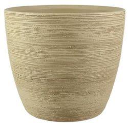 Osłonka doniczki 33 cm piasek marki Cermax