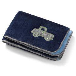 - kocyk pluszowy dwustronny 75 x 100 cm - granatowy marki Babyono
