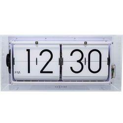 Zegar klapkowy stołowy, ścienny Big Flip Clear transparentny by Nextime