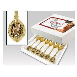 Zestaw gold 6 łyż Gustav Klimt oczekiwanie box