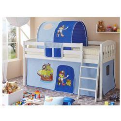 Ticaa kindermöbel Ticaa łóżko z drabinką eric v sosna biały, pirat jasnoniebieski-ciemnoniebieski