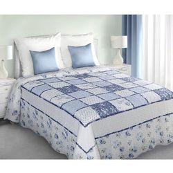 narzuta na łóżko patchwork 220 x 240 cm, niebieska marki My best home