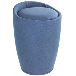 Wenko Pufa candy blue - kosz na pranie, 2 w 1,