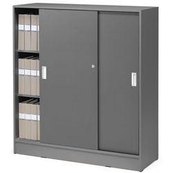 Szafy biurowe - kolor korpusu: szary, kolor drzwi:, szary marki Aj produkty