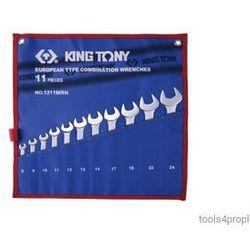 ZESTAW KLUCZY PŁASKO-OCZKOWYCH 11cz. 8 - 24mm King Tony 1211MRN, 1211MRN