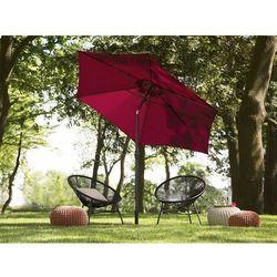 Parasol ogrodowy Ø270 cm burgundowy varese marki Beliani