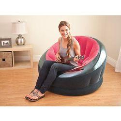 Fotel dmuchany różowy 112 x 109 x 69 cm 68582 - różowy marki Intex