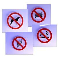 Zakaz - Naklejki na szybę 12,5 x 12,5 cm