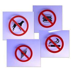 Zakaz - Naklejki na szybę 12,5 x 12,5 cm z kategorii akcesoria do drzwi