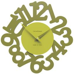 Zegar ścienny Mat CalleaDesign oliwkowo-zielony, kolor zielony