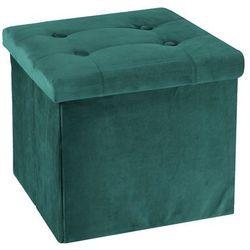 Pufa Intesi Vels zielona, kolor zielony