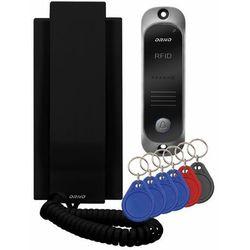 Zestaw domofonowy avior or-dom-ja-928/b jednorodzinny z interkomem i czytnikiem breloków zbliżeniowych, czarny marki Orno