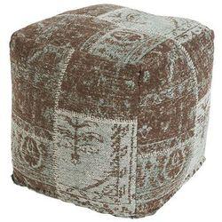 Qazqa Vintage kwadratowy puf turkusowy 45 x 45 x 45cm - agra