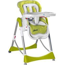 Caretero Krzesełko do karmienia BISTRO, Green - produkt z kategorii- Krzesełka do karmienia