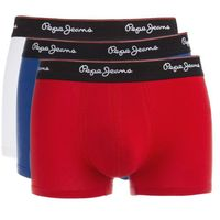 Pepe Jeans Anson Boxers 3 Piece Niebieski Czerwony Biały S, kolor niebieski
