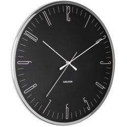 Zegar ścienny Karlsson Dragonfly czarny, kolor czarny