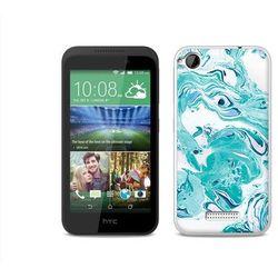 Etuo.pl Fantastic case - htc desire 320 - etui na telefon fantastic case - niebieski marmur