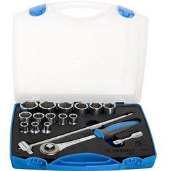 """Zestaw kluczy nasadowych 1/2"""" w plastikowej skrzynce. 10-32/17 Unior (622022) 190-6P17"""
