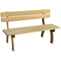 Vidaxl ławka z oparciem drewna sosnowego