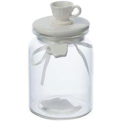 pojemnik tea szklany filiżanka mała wys. 19,5cm, wys. 19,5 cm marki Dekoria