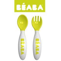 Beaba  - sztućce plastikowe w etui neon