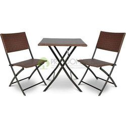 Meble SMART technorattan 2 krzesła brąz