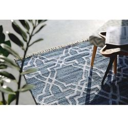 Dywan niebieski - 160x230 cm - chodnik - mata - bawełna - adiyaman marki Beliani
