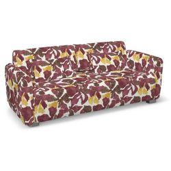 pokrowiec na sofę 2-osobową mysinge, żółto-brązowe kwiaty, sofa mysinge 2-os., wyprzedaż do -30% marki Dekoria