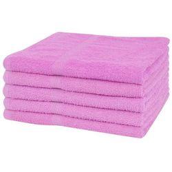Ręczniki prysznicowe 5 szt, 100% bawełna, 360 g/m², 70x140, róż marki Vidaxl