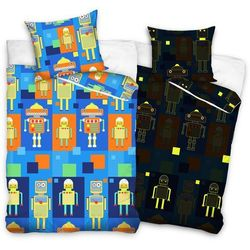 Tip trade dziecięca świecąca pościel bawełniana roboty, 140 x 200 cm, 70 x 80 cm marki Bedtex