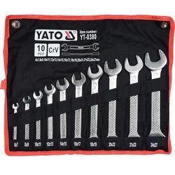 Zestaw kluczy płaskich YATO YT-0380 6 - 27 mm (10 elementów) + DARMOWY TRANSPORT! (5906083903809)
