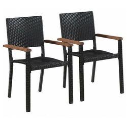Zestaw polirattanowych krzeseł ogrodowych - Conat, vidaxl_43937