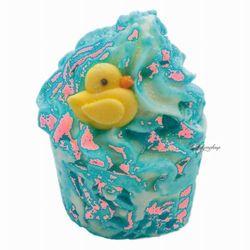 - duck n dive - kremowa, nawilżająca babeczka do kąpieli - kaczy nur wyprodukowany przez Bomb cosmetics