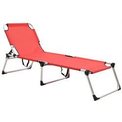 Czerwony lekki leżak ogrodowy - sollero marki Elior