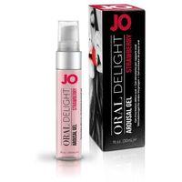 Żel do seksu oralnego - System JO Oral Delight Strawberry Sensation 30 m Truskawka
