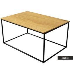 stolik kawowy industrialny seaford 90x60 cm dąb marki Selsey