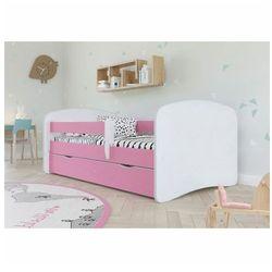 Producent: elior Łóżko dla dziewczynki z materacem happy 2x 70x140 - różowe