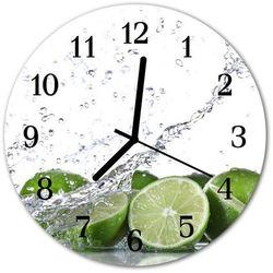 Zegar ścienny okrągły Limonka, kolor zielony