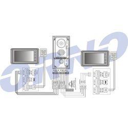 Zestaw wideodomofonowy ORNO OR-VID-VT-2004 Muri Multi Memo dwurodzinny + DARMOWY TRANSPORT!