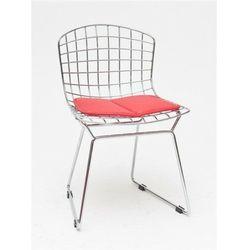 Krzesło dziecięce Harry Junior czerwona poduszka