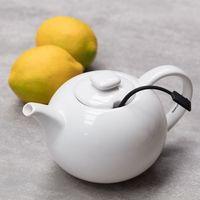 Dekoria Czajnik do herbaty S&P My Tea z zaparzaczem 650ml biały, 650ml