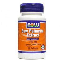 Palma sabałowa Saw Palmetto ekstrakt 160mg 60 kapsułek NOW FOODS (2552501003120)